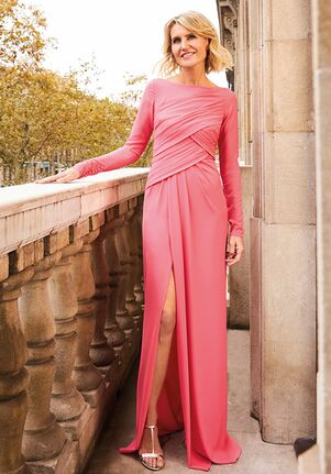THE PARTY EDIT TD STYLE 148 Bateau Bridesmaid Dress