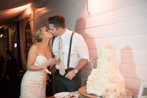 Bride and Groom Cake-Cutting Ceremony