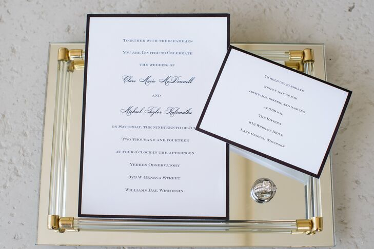 Polished Black and White Stationery Suite