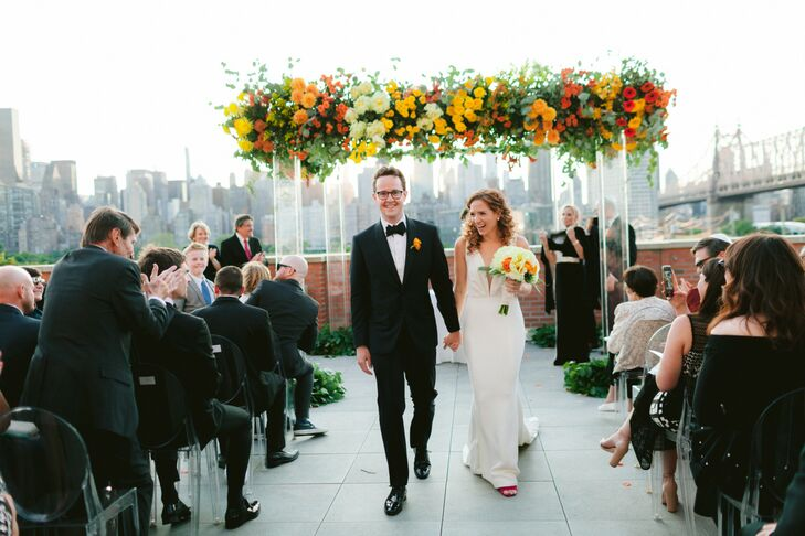 """Paulene Meyers and Bobby Underwood wed at The Bordone LIC, which opened eight months before their big day, because they """"wanted a venue that none of o"""