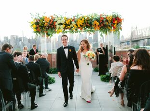 "Paulene Meyers and Bobby Underwood wed at The Bordone LIC, which opened eight months before their big day, because they ""wanted a venue that none of o"