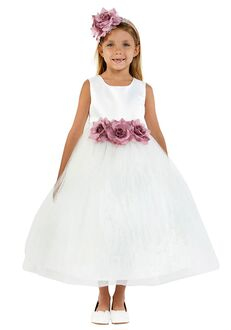 Kid's Dream 411-F Ivory Flower Girl Dress