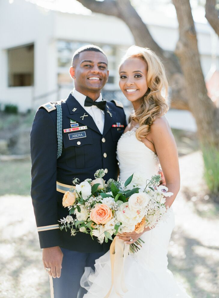 Bride and Groom Portraits During Wedding at The Ivory Oak in Wimberley, Texas