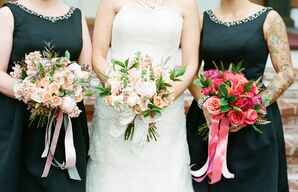 Mix-and-Match Bridal Party Bouquets