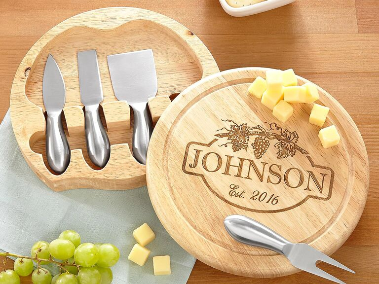 Personal Creations Vineyard cheese board personalized wedding gift  sc 1 st  The Knot & 55 Wedding Gift Ideas