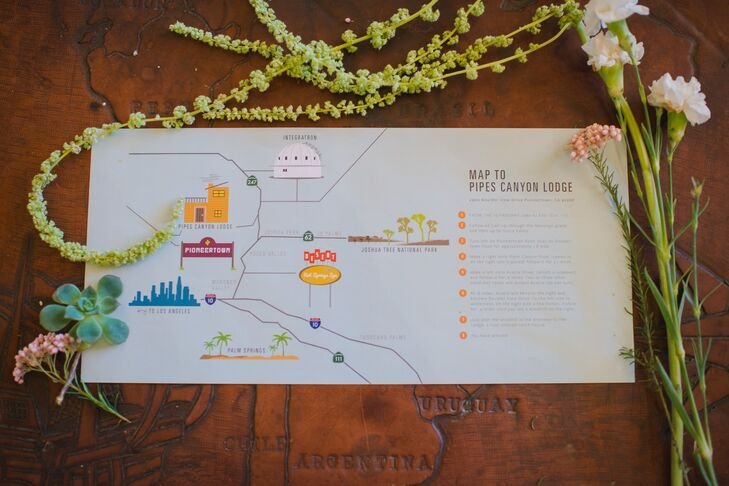 Pioneertown California Map.A Multicultural Desert Wedding At A Private Residence In Pioneertown
