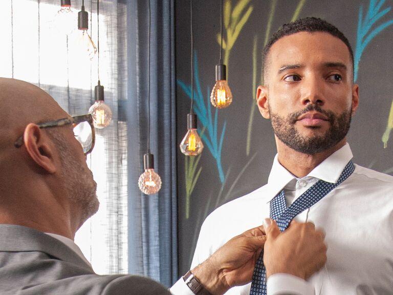 groom father wedding pep talk