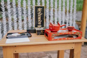 Traditional Japanese San-San Kudo Sake Ceremony Supplies