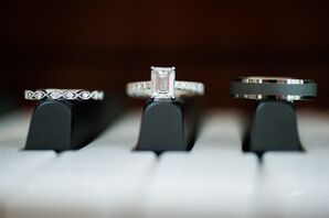 Engagement and Wedding Rings on Piano Keys