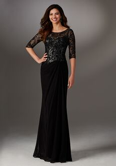 MGNY 71524 Black Mother Of The Bride Dress