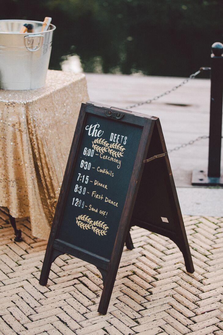 DIY Chalkboard Wedding Itinerary