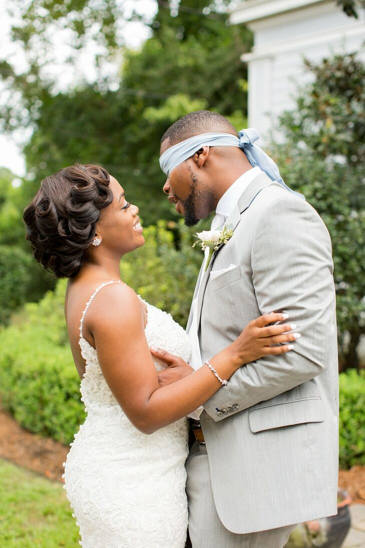 """Simple elegance"" inspired Meghan and Daquan as they were planning their wedding at O'Donnell House in Sumter, South Carolina. ""My wedding was everyth"