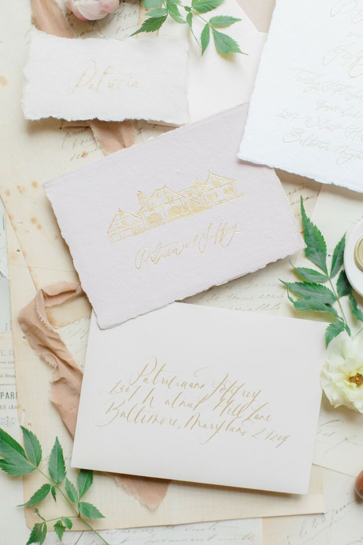 Romantic Invitations for Wedding in Baltimore, Maryland