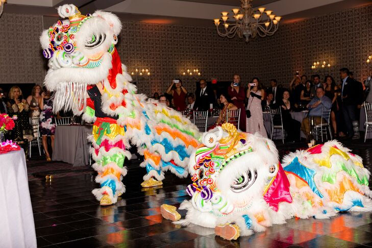Traditional Chinese Lion Dance at The Nines Hotel in Portland, Oregon