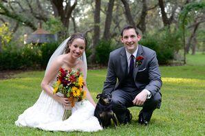 Wedding Dog With Purple Bow Tie