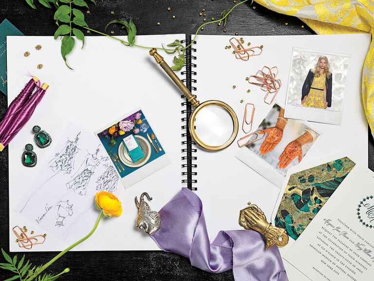 Teal and gold wedding palette inspiration