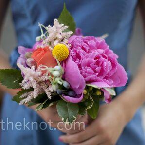 Multicolored Bridesmaid Bouquets