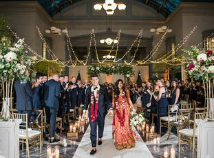 Roshni Shah and Elliot Wheeler fused the bride's Hindu culture and the groom's Western roots for an elegant, luxurious wedding at the Harold Washingto