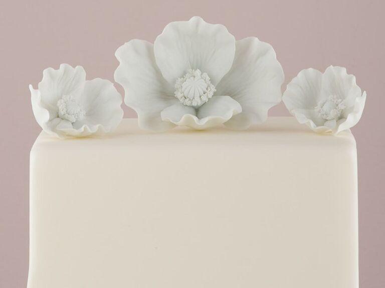 porcelain flower wedding cake topper