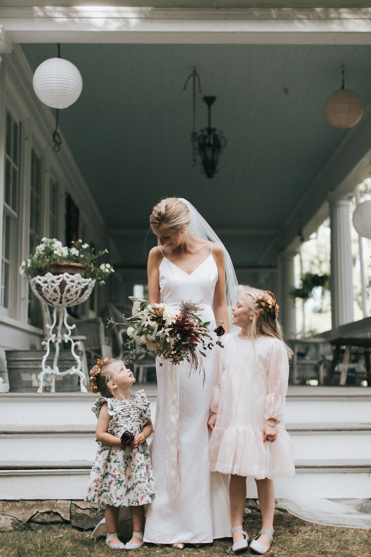 Bride with Two Flower Girls