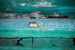 Engagement Rings Set on Turquoise Stairs