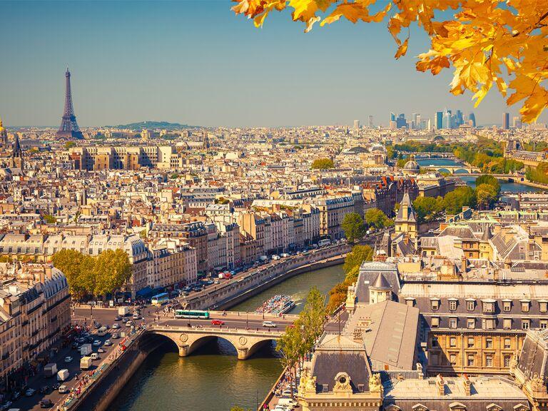 Paris honeymoon in the fall
