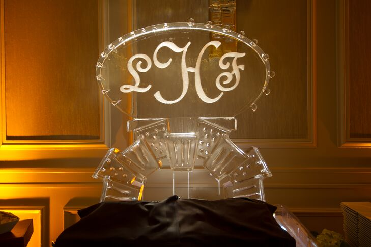 Monogrammed Ice Sculpture