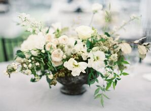 Greenery and Loose White Blooms