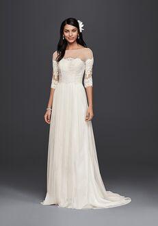 David's Bridal Galina Style WG3817 Sheath Wedding Dress