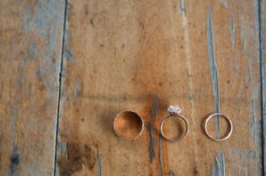 Rose Gold Engagement and Wedding Ring Set