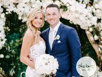 alex bregman wife reagan bregman wedding beautiful white arbor