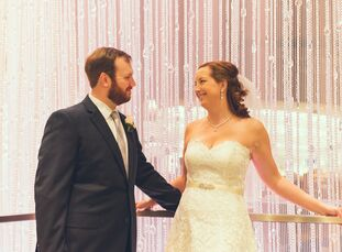 No wedding party, no color palette, no big dance party, no problem for Pam Duffy (28 and a product manager) and Ted Duffy (28 and a business developme