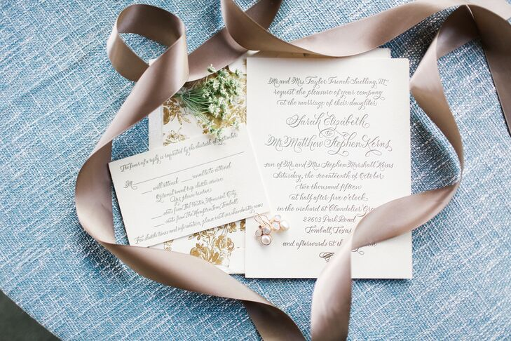 Formal Calligraphed Wedding Invitations