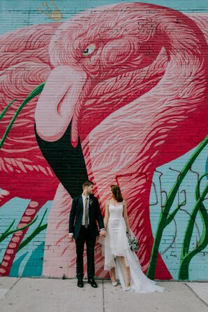 Modern Couple with Graffiti Backdrop in Chicago
