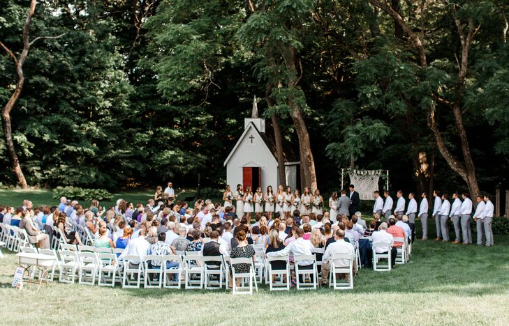 Casual Outdoor Ceremony at Rockmill Brewery