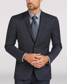 Men's Wearhouse Awearness Kenneth Cole AWEAR-TECH Blue Extreme Slim Fit Suit Blue Tuxedo