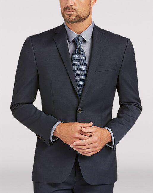 Men's Wearhouse Awearness Kenneth Cole AWEAR-TECH Blue Extreme Slim Fit Suit Blue Tuxedo