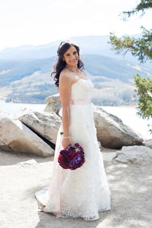Fit-and-Flare Oleg Cassini Wedding Dress