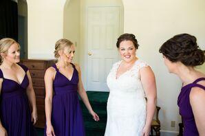 California Knee-Length Purple Bridesmaid Dresses