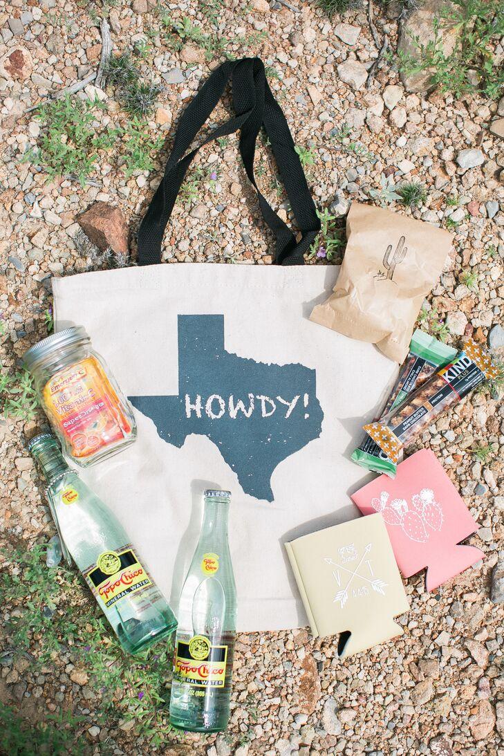 Texas-Themed Destination Wedding Welcome Bag