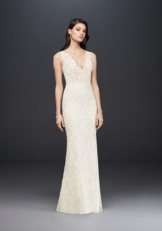 David's Bridal Galina Signature Style SWG772 Sheath Wedding Dress