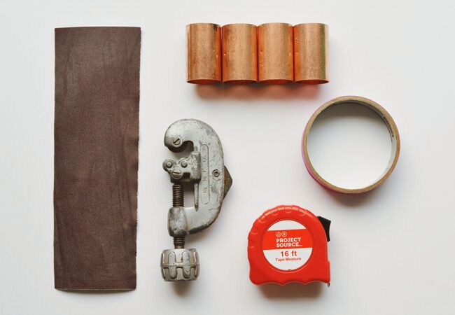 Copper napkin ring DIY materials
