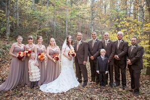 Strapless, Brown Bridesmaid Dresses