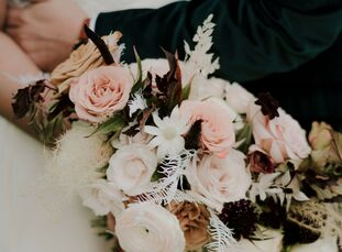 "Megan and Manny's main priority with their wedding was to ""make it feel uniquely and truly us,"" Megan says. ""I'm an interior designer, so naturally I"