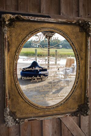Ornate Mirror Signage
