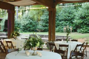 Elegant Green and Ivory Centerpieces