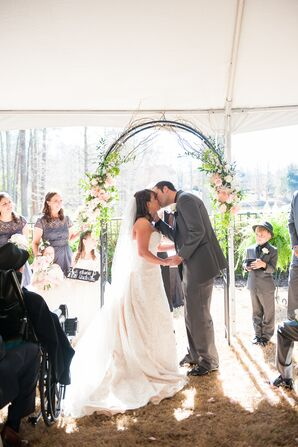 Tented Garden Wedding Ceremony