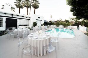 Modern Poolside Reception