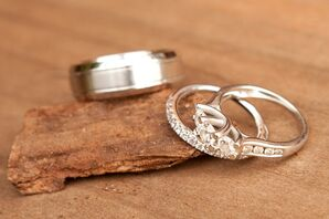 Platinum Engagement Ring and Wedding Bands