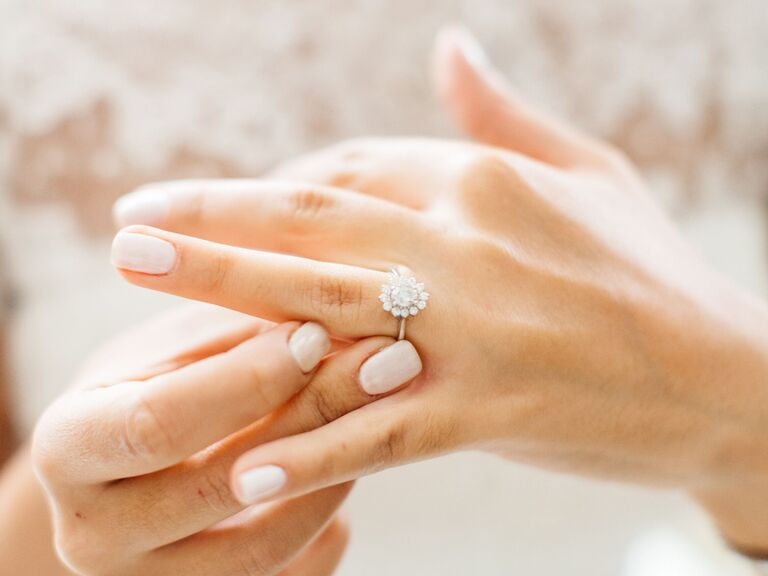 Modern Double Halo Marquise Engagement Ring Engagement Rings
